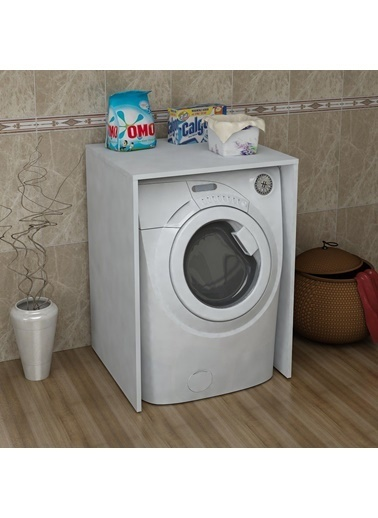Sanal Mobilya Terni Çamaşır Makinesi Dolabı Alt Modül Beyaz